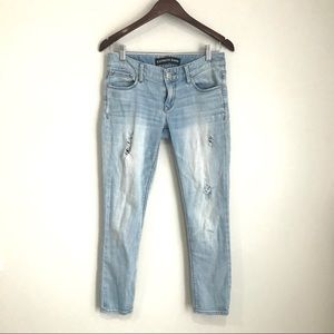EXPRESS Low Rise Distressed Stella Ankle Jeans HH8